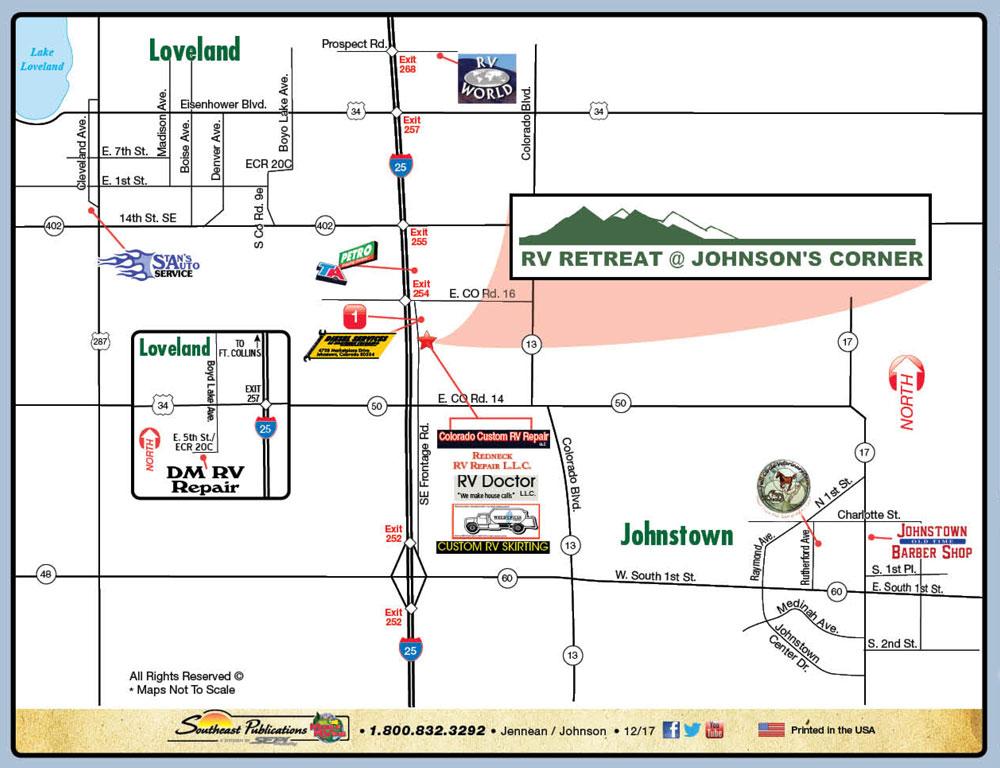 Location Jc Rv Retreat Johnstown Colorado